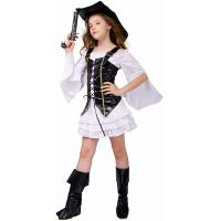 Quality Holiday / Carnival Teenage Girl Halloween Costume Pirate Costume for sale
