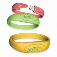 Quality Silicone Red yellow 4G 16G environmentally friendly Bracelet USB Flash Drive AT-051B for sale