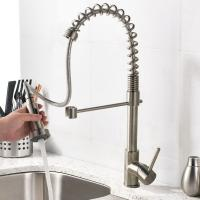 China Brass Kitchen Tap Chrome / Brushed Nickel Pull Down Sink Mixer Faucet (S18) on sale