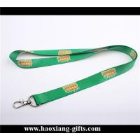 China Attractive decorative green color 20*900mm polyester printed lanyards on sale