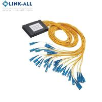 Quality ODM/OEM Link-all Optical Fiber PLC Splitters 2x32 ABS Box Type with SC/APC connector for FTTH network for sale