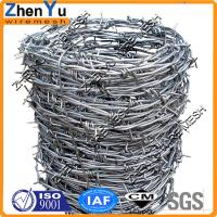 China Top 12x12 14x14 12x14 hot dipped galvanized barbed wire(Manufacturer Since 1998,Cheap price per roll,High quality) on sale
