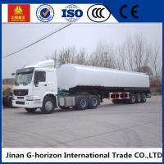Quality 8X4 Oil Tank Truck Trailer / Fuel Tank Semi Trailer Q325 Steel Material for sale