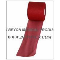 Quality No Adhesive Breathable Sports Pre - wrap Tape For Skin Protection red color for sale