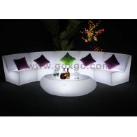 Cordless Outdoor PE Glowing Event Sofa With Rechargeable LED Lights