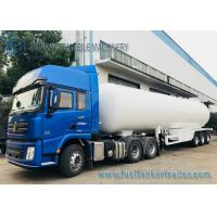 Quality 3 Axles 12 Wheels 56M3 LPG Tank Semi Trailer Transport Bower Trailer for sale