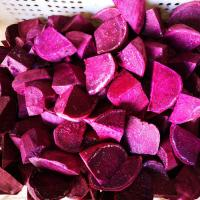 Quality Fresh IQF Frozen Vegetables , Snap Frozen Natural Sweet Purple Potatoes for sale
