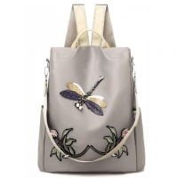 Quality 3d Embroidery Dragonfly Travel Polyester Womens Fashion Backpack for sale