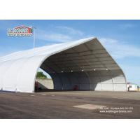 Quality Outdoor Aluminum Curved Roof TFS Tent For Military And Hangar , Aluminum Structure Tent for sale