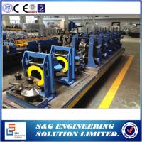 China Round Ss Pipe Welded Pipe Making Machine , High Frequency Automatic Pipe Welding Machine on sale
