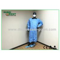 Quality Green , Blue Medical Sterile Disposable Surgical Gowns of Knitted Wrist for sale