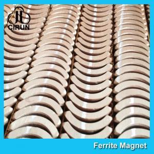 Quality Custom Industrial Ceramic Ferrite Magnets Arc Shaped Y25 Y30 Y30BH Y35 Grade for sale