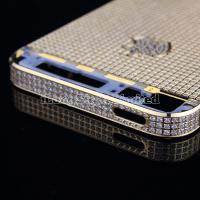 China Replacement Parts Diamond Back Cover Complete Assembly for iPhone 5 Golden on sale