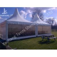 Quality Out side Clear PVC Fabric Wall high peak tent rentals , Pagoda Party wedding reception tents for sale