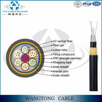 China ADSS outdoor self-support ADSS kevlar armored fiber cable 144 cores for Power Transmission Line on sale