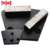 Quality Two Pin Backed Trapezoid diamond grinding shoes for sale