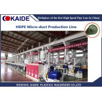 Quality HDPE Silicone Microduct Plastic Extrusion Equipment 60m / Min High Speed 8-16mm for sale