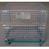 """Buy cheap 5"""" Casters Removable Wire Mesh Container Storage Cages With Trolley Cars from wholesalers"""