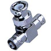 Quality Nickel / Gold Plated BNC T Connector Double Female To Male Type Adaptor for sale