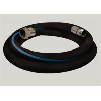 Quality Flange Joint Wire Reinforced Rubber Hose / Corrugated Suction Hose ISO 9001 Approved for sale