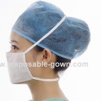 Quality Single Use Nonwoven Tie On Face Mask 17.5x9.5cm For Hospital In Medical Environment for sale