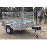 Buy Heavy Duty Hot Dipped Galvanized Caged Trailer Single Axle at wholesale prices