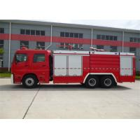 Quality Diesel Fuel Vacuum Tanker Fire Truck 6350mm Wheelbase With Rear Mounted Pump for sale