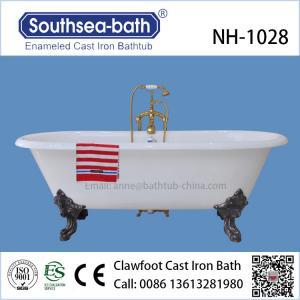 China Freestanding Clawfoot Antique Cast Iron Bathtub on sale
