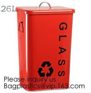 China Kitchen/Home/Household/Outdoor/Recycling,Copper Garbage Can Tin Garbage Bin,Pedal Tin Waste Bin,galvanized metal Tin gar on sale