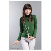 China Women's Popular Green Cotton Shirt Online Sell on sale