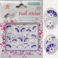 Quality Fashion Nail Sticker, 3D Nail Sticker, Nail Sticker with Acryl Diamond for sale