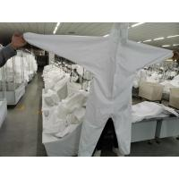 Quality Professional Disposable Isolation Gown / White Disposable Overalls for sale