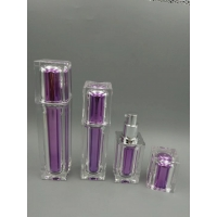 Quality Top Quality purple Color Cosmetic Packaging Skin Care squre Set 15ml 30ml 50ml  Acrylic Lotion Bottle for sale