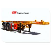 China 20 Ft Commercial Flatbed Trailer Equipment , Carbon Steel Beam Heavy Duty Trailers on sale
