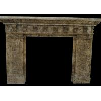 indoor natural stone fireplaces emperador fire surround 2800 kg m3 rh granitestonetiles wholesale webtextiles com