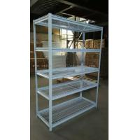 Quality 5 Multi Level White Light Duty Shelving Slotted - Angle Rack In Wire Mesh Deck for sale