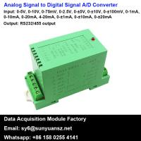 Quality 4-20mA/0-10V to RS485 Converter A/D Converter With Modbus for sale