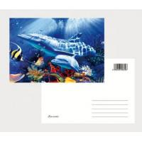 Quality 2021 Souvenir scenery Plastic lenticular 3D printing postcard with 3D flip effect post card printed by UV printer for sale