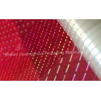 Quality Transparent Holographic BOPP Biaxially Oriented Polyester Film High Moisture Barrier for sale