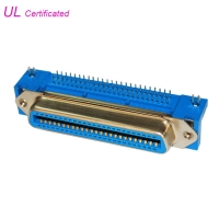 Quality PBT Female 50 Pin Centronics Connector right angle PCB Champ Connector 2.16mm pitch for sale