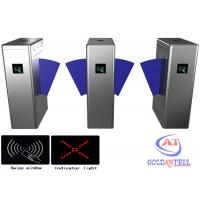 Buy cheap Office Baffle barrier RFID Turnstile security gate barcode fingerprint and RFID reader from wholesalers