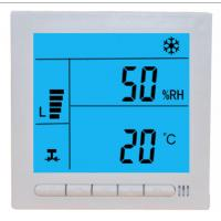 Buy cheap Large LCD Digital Fcu Thermostat / Temperature Humidity Thermostat Wired from wholesalers