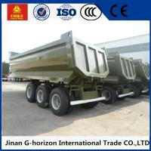 China High Strength 3 Axles 70 Tons Steel Hydraulic Rear End U shaped Dump Semi Trailer on sale