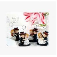 China New creative promotion gift product wedding gift wedding business card holder on sale