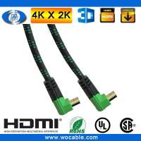 Quality right angle hdmi to hdmi cable with Green/Black color connectors for sale
