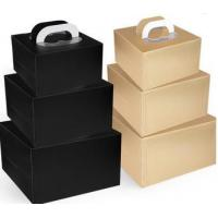 China Personalized Decorative Paper Box With Handle Drawer Box Packaging Black on sale