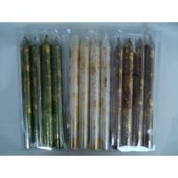 Quality Art 10 inch taper wedding decorations candles with foil 4pcs for sale