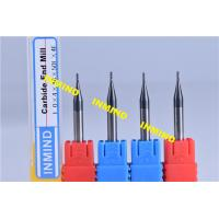 Quality Carbide 0.2 mm Micro Milling Cutters , 2 Flute TiSiN Coating Milling Machine Cutters for sale
