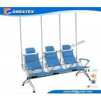 Quality Comfortable Steel Manual Hospital Infusion / Transfusion Chair With PU Cushion for sale