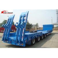 Quality 4 Axles Hidden Tires Pipe Transport Trailer Overheight Equipment Transporting for sale